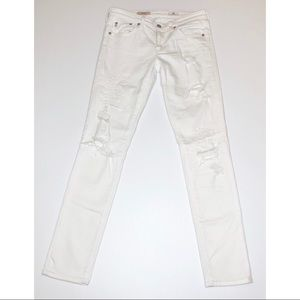 Ag Adriano Goldschmied Jeans - Adriano Goldschmied Stilt White Distressed Jeans